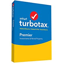 TurboTax Premier Tax Software CD 2017 Fed + Efile + State PC
