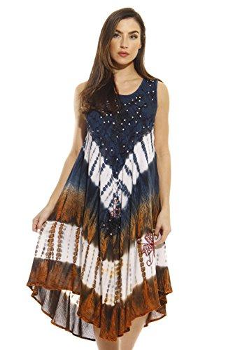 Riviera Sun 21314-BLUERUST-L Dress/Dresses For Women