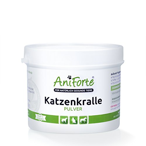 AniForte Katzenkralle Pulver 100 g- Naturprodukt für Hunde, Katzen und Pferde