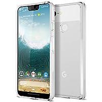 Trianium CLARIUM Series Case for Google Pixel 3 XL (2018) Premium Pixel 3XL Phone Case Clear Cover [Shock Absorption TPU + PC Back] Reinforced Corner Cushion/Scratch Resistant Protection - Clear