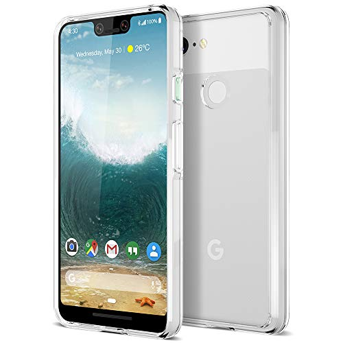 (Trianium CLARIUM Series Case for Google Pixel 3 XL (2018) Premium Pixel 3XL Phone Case Clear Cover [Shock Absorption TPU + PC Back] Reinforced Corner Cushion/Scratch Resistant Protection -)