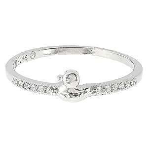 Aurora Women's Silver White Ring