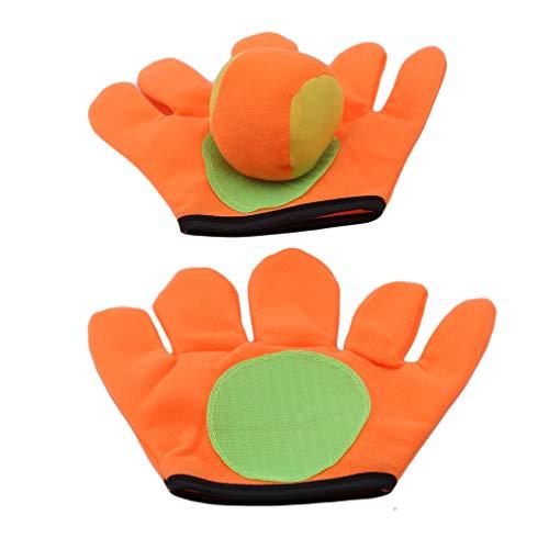 HENGSONG Small Gloves Sticky Ball Children Sucker Racket Gloves Throw Ball Glove Toy For Children