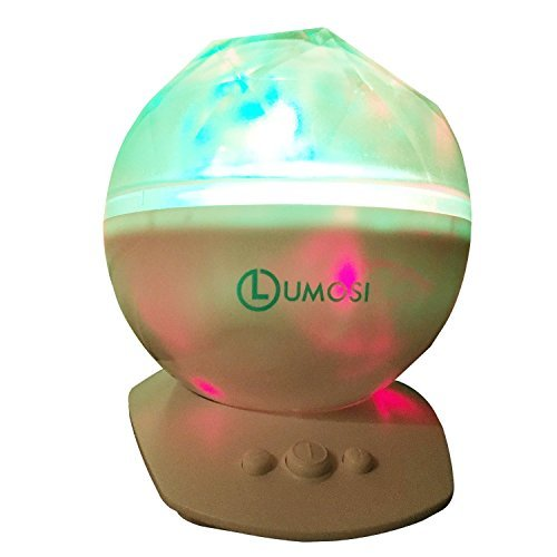 [2-in-1] Color Changing Constellation Night Light, Projector and Speaker- Superior Bundle -Extra-Long Speaker Cable and Bonus Baby Night Light. Ideal Halloween, Holiday Decorations, Mood Light (White)