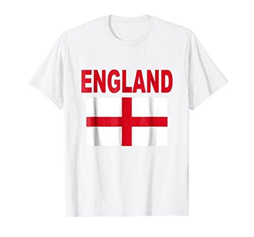 England Flag T-Shirt British English Cool Uk Flags Gift (Cool T-shirts Uk)