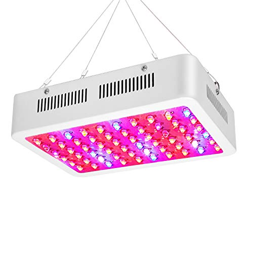 600W LED Grow Light, ZXMEAN Full Spectrum Plant Growing Lamp and Adjustable Rope Hanger for Professional Greenhouse Hydroponic Indoor&Garden Plants, Input 85V to 265V(Timer is a Random Gift)