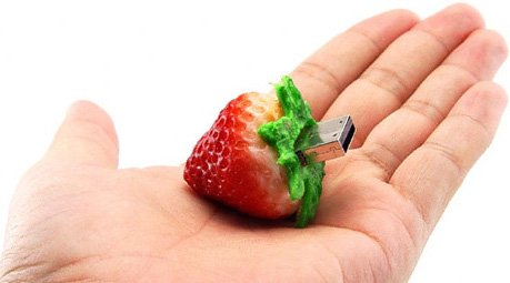 D CLICK speed Flash Memory Strawberry product image