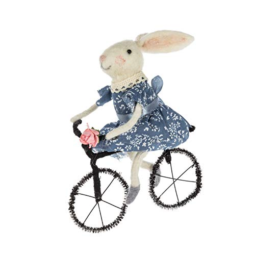 Abbott Collection 27-MERINO-255 Bunny on Bicycle Ornament-5