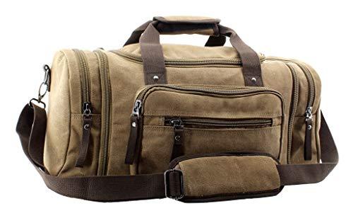 JIAO MIAO Overnight Handbag Shoulder Canvas Travel Tote Luggage Weekender Duffel Bag,170804-04 ()
