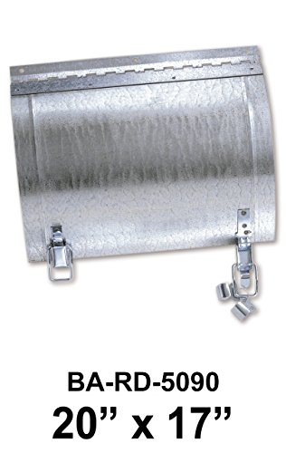20'' x 17'' Duct Door for Round Ducts with 24'' Diameter by Best Access Doors