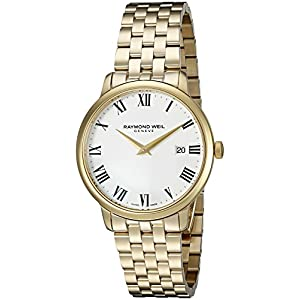 Raymond Weil Men's 'Toccata' Swiss Quartz Stainless Steel and Dress Watch, Color:Gold-Toned (Model: 5488-P-00300)