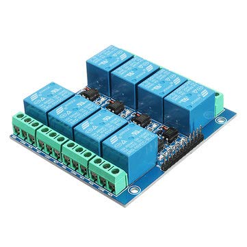 8 Channel 12V 10A Optical Coupling Isolation Relay Module - Module Board for Arduino Relay Module -   1 x 8 Channel 12V 10A Optical Coupling Isolation Relay Module