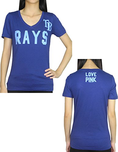 Pink Victoria's Secret Womens TB RAYS V-Neck T Shirt / Tee S Blue