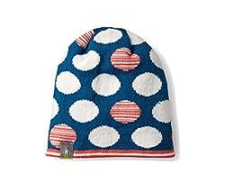 Smartwool Kids' Reversible Wintersport Dot Hat (Glacial Blue) Largex-large