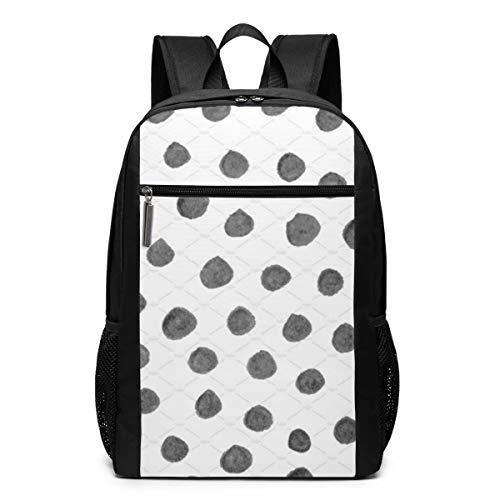 GgDupp Polka-dots School Bag Travel Backpack 17 Inch Laptop Bag (17 Inch Laptop Bag Polka Dot)