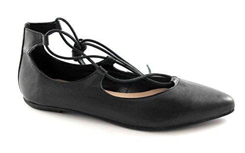 Esclavo Zapato Locura 5782 Follie Divine Nero Divina de de Mujer La Bailarina Cordón Negro x6ZT7wnTR