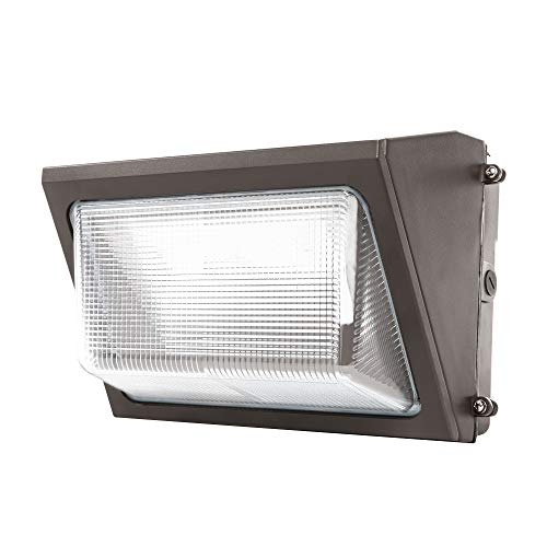 UL & DLC Listed- LED 50W Wall Pack Outdoor Lighting, 5000K Cool White, 4,500 Lumens, 250 Watt Equivalency, 48,000 Life Hours, HIGHEST Quality, Wall Light, Industrial, Commercial (50w Wall)