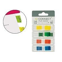 Q-Connect Banderitas Separadoras Dispensador 4 Colores 36 Hojas Por Color