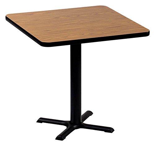Correll BXT24S-06 Medium Oak Top and Black Base Square Bar, Café and Break Room Table, (Medium Square Bar)