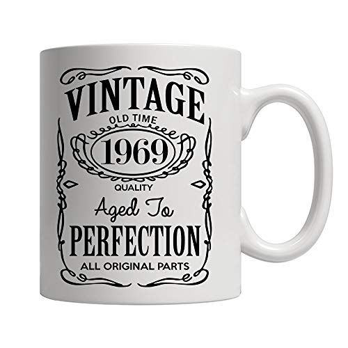 (50th Birthday Gifts for Men and Women - Funny Vintage Anniversary Gift Ideas for Dad, Mom, Husband or Wife - Party Decorations for Him or Her Ceramic Coffee Mug Tea)