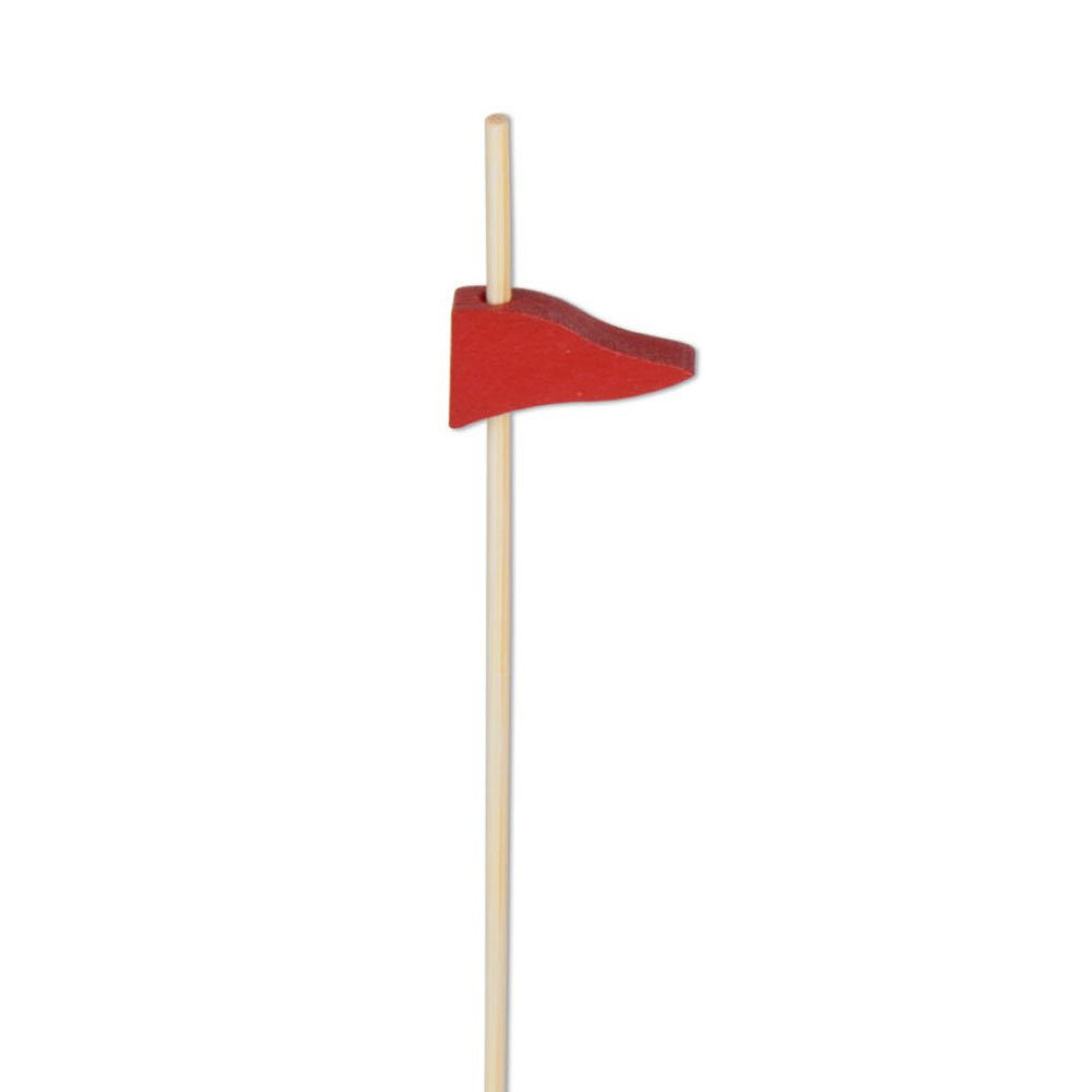 Red Flag Appetizer or Sandwich Picks / Swizzle Sticks - 4 3/4'' - 100ct