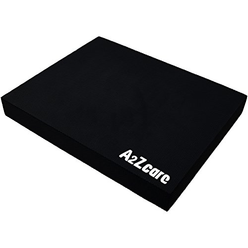 A2ZCare Premium Quality Balance Pad - Supper Soft Pad Provides A Non-Slip Textured Surface (Guideline Included) (Balck (Large))