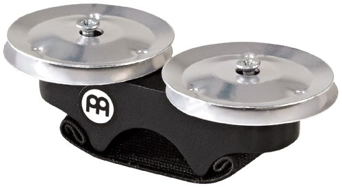 Meinl Percussion FJS1A-BK Aluminum Finger Jingles for Cajon, Djembe, Bongos or (Meinl Conga Bag)