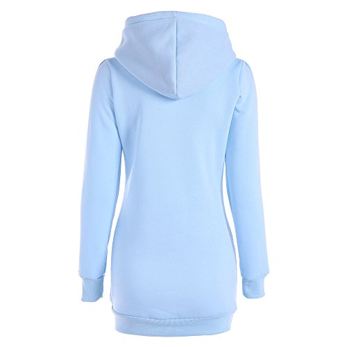 Loose Sleeve Pullover Long Autumn Light Shirt Casual DEELIN Sale Blue Jacket Winter Outwear Clearance T Ladies Vintage Size Womens Plus Hoodie Tops Sweatshirt v8Fqpv