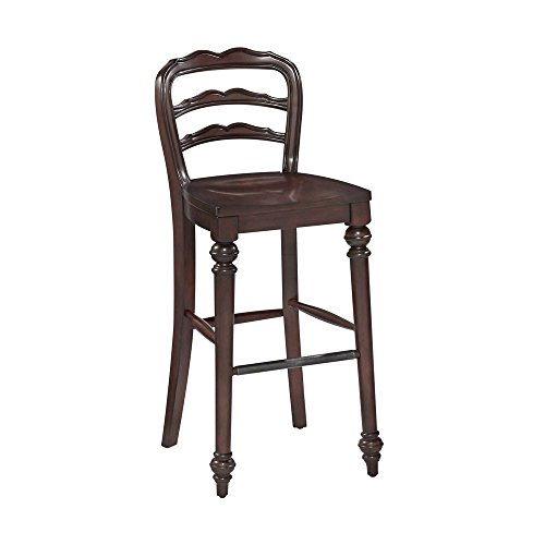 Colonial Classic Traditional Barstool Dark Cherry/Antique Pewter Hardware Dimensions: 17.75