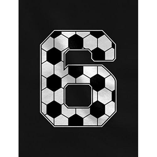 7d412189 Tstars Soccer 6th Birthday Gift For 6 Year Old Toddler/Kids Long Sleeve T-