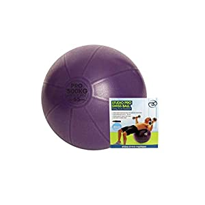 Fitness Mad Men's Studio Pro 500Kg Swiss Ball & Pump Purple 65Cm
