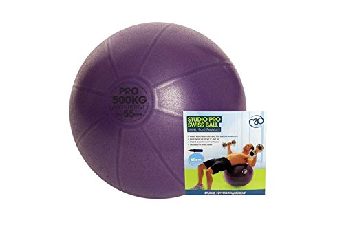 Fitness mad Studio Pro 500kg Swiss Ball 55cm & Pump Purple