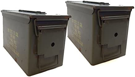 Amazon.com   Military .50 Cal Ammo Steel Storage Cans (empty boxes) Light  Use 2-1B   Hunting And Shooting Equipment   Sports   Outdoors 5586984940a