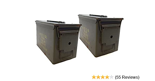Amazon.com   Military .50 Cal Ammo Steel Storage Cans (empty boxes) Light  Use 2-1B   Hunting And Shooting Equipment   Sports   Outdoors e317f748de4