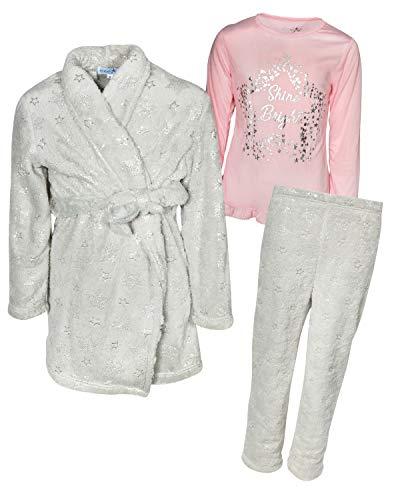 Freestyle Set (Freestyle Girls 3 Piece Pajama Robe Set, Stars, Size 8')