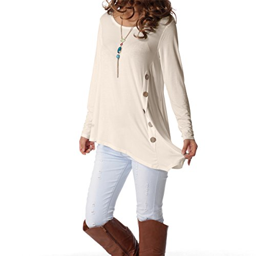 Long Sleeve Cowl Neck Top - 1