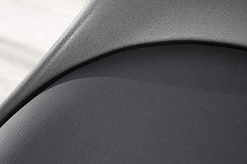 DuNord Design - Silla de Comedor de Piel sintética cromada, diseño Retro, Color Gris