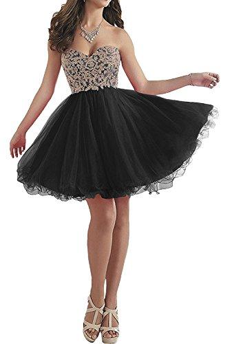 Abendkleider mit La Kurzes Abschlussballkleider Promkleider Brautmutterkleider Rot Braut Schwarz Marie Spitze w8qS8XRF