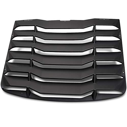 Speedmotor for 2003-2008 Nissan 350Z 3.5L Matte Black Rear Window Windshiled Louvers Cover Sun Shade ()
