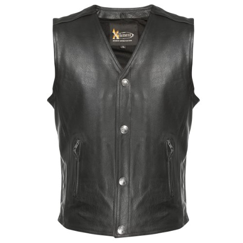 Xelement XS1378 Mens Black Gun Pocket Vest with One Panel Back - 2X-Large by Xelement