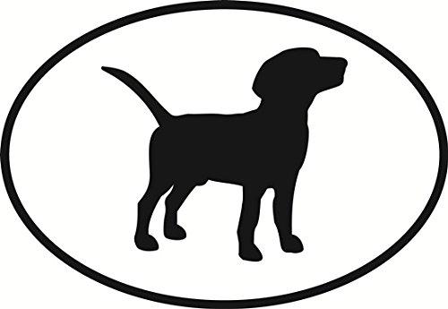 Beagle Oval Bumper - Beagle Sticker For Car