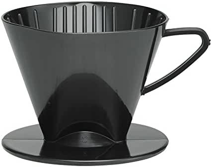 HIC Coffee Filter Cone, Black, Number 2-Size Filter, Brews 2 to 6-Cups