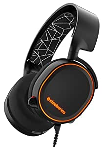 SteelSeries Arctis 5 RGB Illuminated Gaming Headset with DTS Headphone:X 7.1 Surround for PC, PlayStation 4, Xbox One, VR, Android and iOS - Black