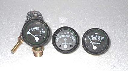 Tacho,Temp Oil Pressure Ford Tractor 8N Amp Gauge Kit 9N 2N