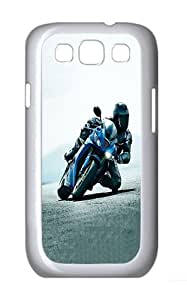 ICORER Stylish Samsung Galaxy S3 Case Motorcycle Sport Competition Case Cover for Samsung Galaxy S3 PC White