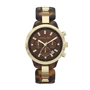 MICHAEL KORS MK5609 - Reloj analógico de cuarzo para mujer con correa de acero inoxidable, color multicolor