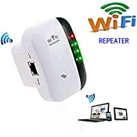 Wireless Wifi Repeater Long Range Extender Amplifier 2.4GHz Network Adapter Wireless-N Mini AP Access Point Dongle IEEE802.11N/G/B Mini AP Router Signal Booster(300M-New Chip)-KANGLONGJIA