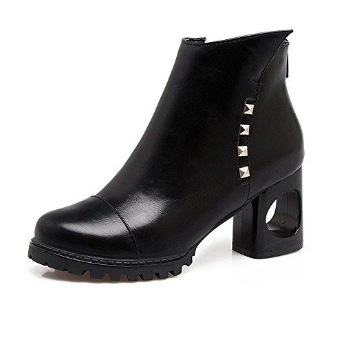 DecoStain Women's high heels Zipper Bootie Black HVFUhsj