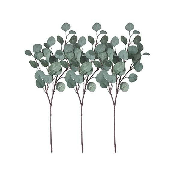 ZHIIHA-3-pcs-Artificial-Eucalyptus-Garland-Long-Silver-Dollar-Leaves-Foliage-Plants-Greenery-Fake-Plastic-Branches-Greens-Bushes