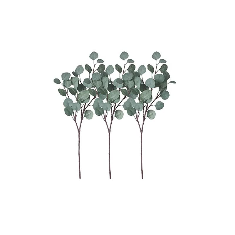 silk flower arrangements zhiiha artificial eucalyptus garland long silver dollar leaves foliage plants greenery fake plastic branches greens bushes